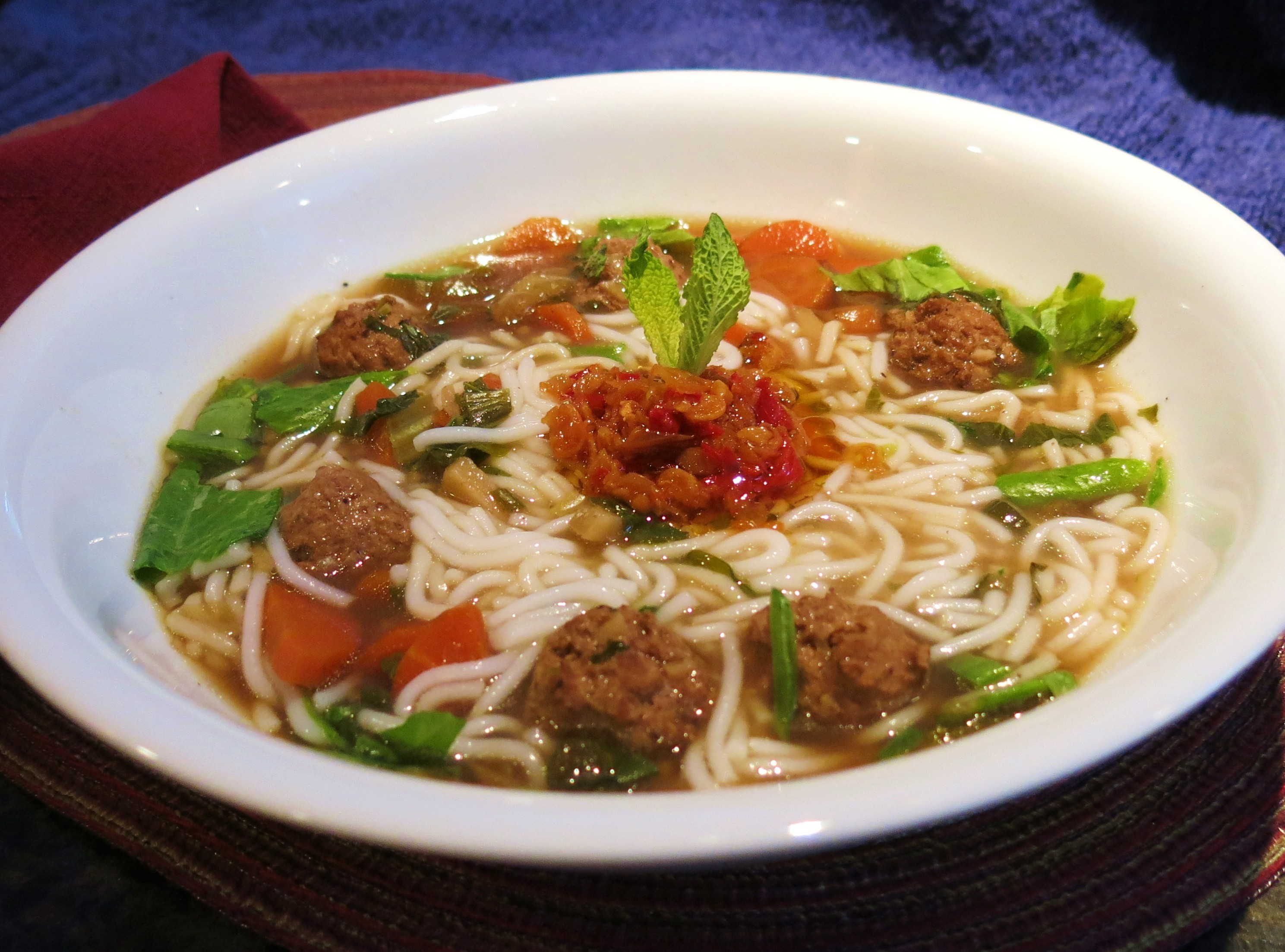 how to make meatball soup with rice