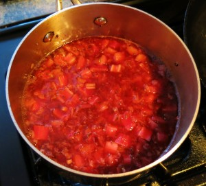 Strawberry Sauce with Pink Peppercorns