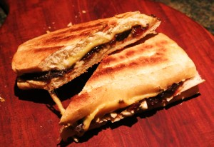 "Grilled Cheese with Caramelized Onion and Dried Fruit ""Jam"""