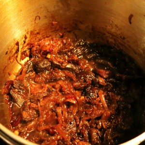 "Almost Caramelized Onion and Dried Fruit ""Jam"""