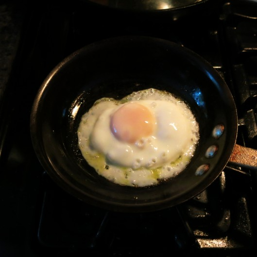 Perfect Fried Egg in the Making