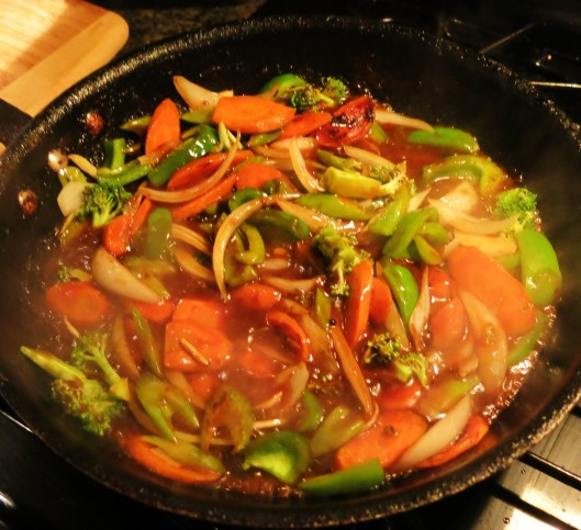 Stir-Fry Veggies with Kung Pao Sauce