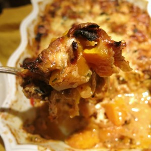 Winter Squash au Gratin with Bleu Cheese