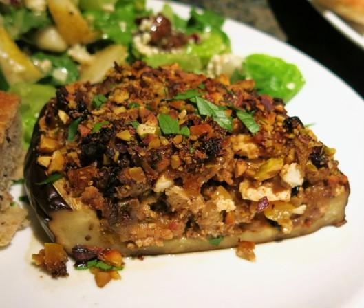Roasted Eggplant with Chorizo Stuffing