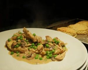 Biscuits with Chicken-Mushroom Gravy