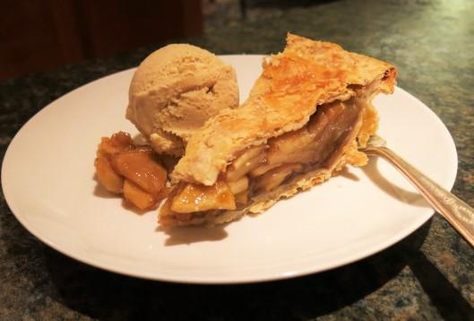 Apple Pie with Maple-Bourbon Ice Cream