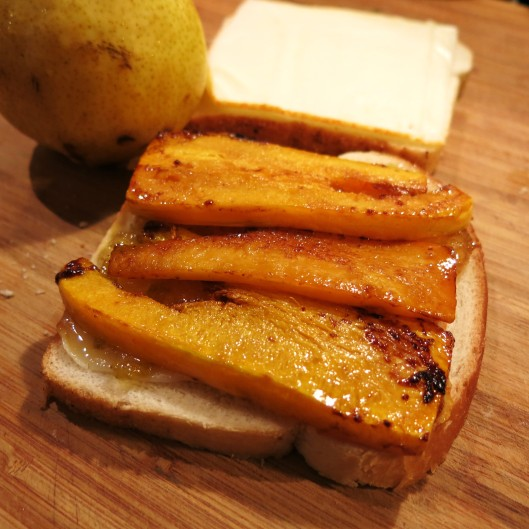 Grilled Butternut Squash & Pear Grilled Cheese Sandwich