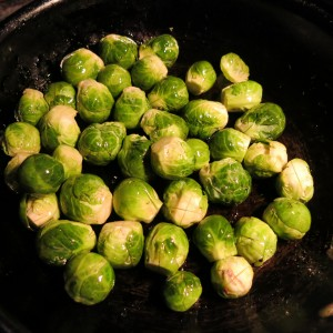 Brussels Sprouts with Oil Ready to Roast
