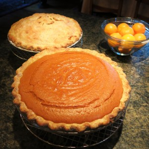 Spicy Pumpkin Pie & Spicy Caramel-Apple Pie