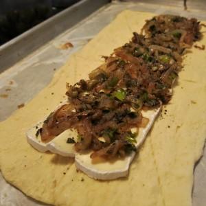 Sautéed Onions, Brie and Crescent Dough