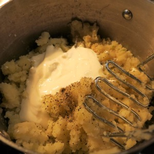 Mashed Potatoes with Sour Cream and Horseradish