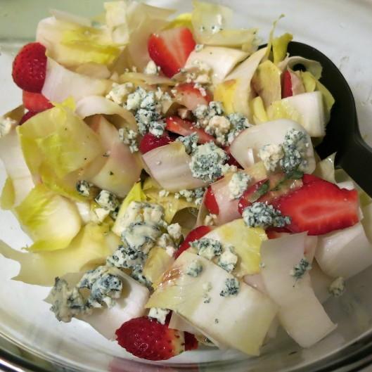 Salad of Belgian & Blue with Strawberries and Dijon-Tarragon Vinaigrette