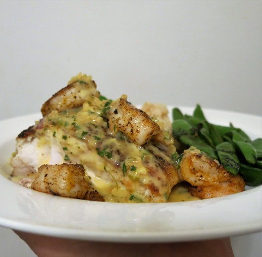 Pan-Fried Red Snapper with Citrus-Cilantro Beurre Blanc