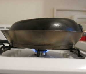 Improvised Dutch Oven for Braising