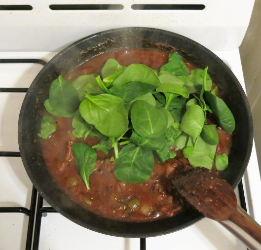 Cuban Beef Ragu with Spinach