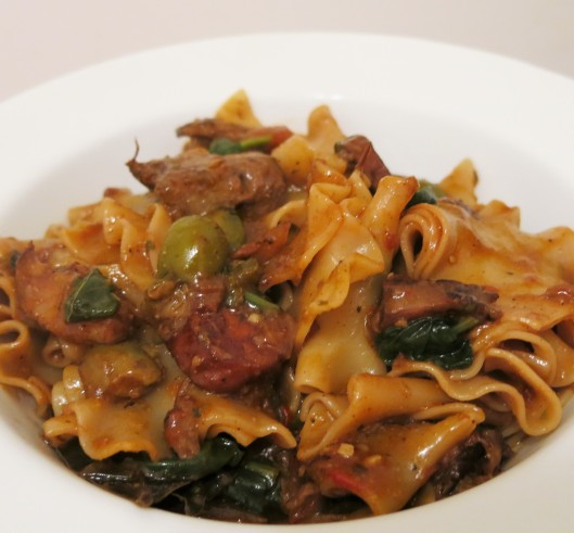 Cuban Beef Ragu with Pasta