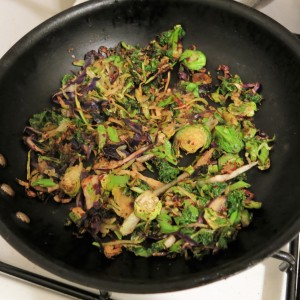 Cruciferous Crunch Sautéed in Oil with a Maple Syrup Drizzle