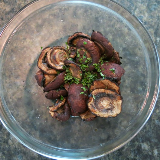 Roasted Mushrooms with Fresh Thyme Leaves