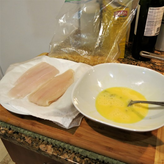 Coating Fish Fillets with Crushed Plaintains