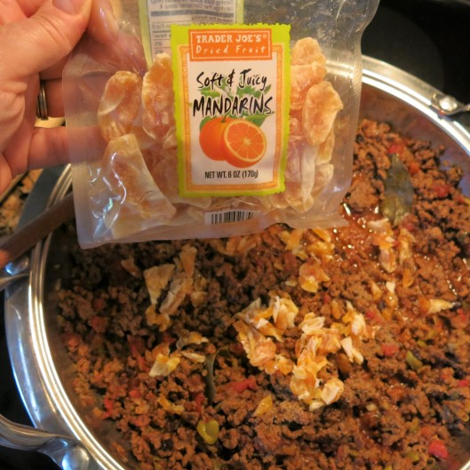 Picadillo with Dried Mandarin Oranges