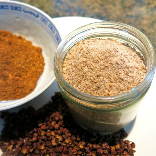 Whole Sichuan Peppercorns, Ground and Sichuan Pepper-Salt