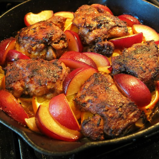 Spiced Persian Chicken with Citrus & Plums