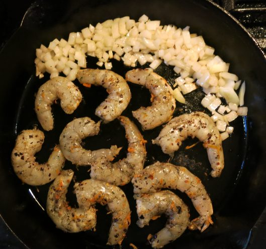 Sautéeing Shrimp