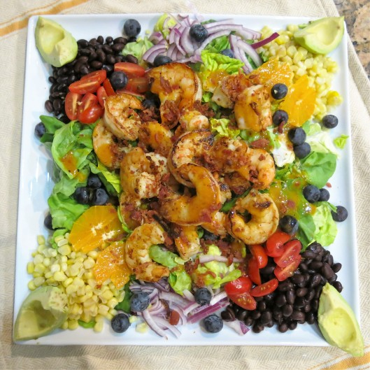 Miami Cobb Salad with Sautéed Shrimp