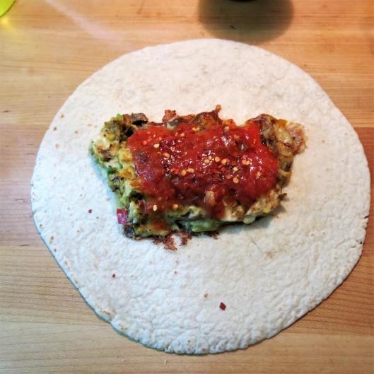 Pizza Breakfast Burrito