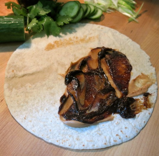 Peanut Butter & Hoisin Sauce for Chinese BBQ Pork-Peanut Butter-Hoisin Wrap