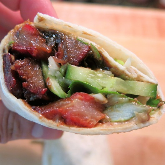 Chinese BBQ Pork-Peanut Butter-Hoisin Wrap