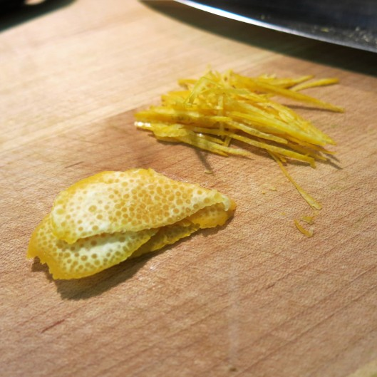Julienned Meyer Lemon Peel