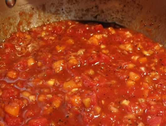 Tomato Jam with Pineapple and Apricots