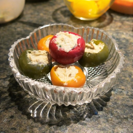 Little Sweetie Peppers Stuffed with Tuna-Caper Mousse