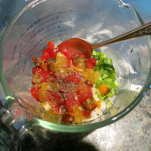 Greek Topping for Salmon (or Chicken)