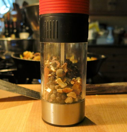 Pepper Grinder with Mulling Spice Mixture