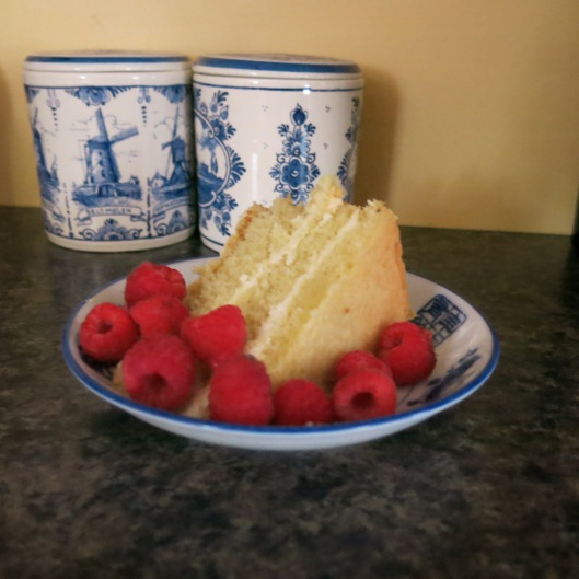Cassata with Ricotta-Mascarpone Filling and Raspberries