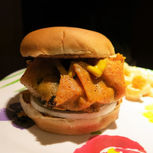 "The Hot Mess Cheeseburger with a Crispy ""Collar"""