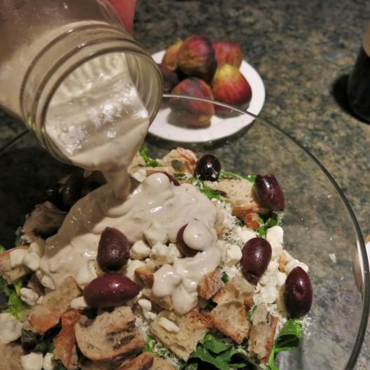 Salad with Hail, Caesar! Salad Dressing