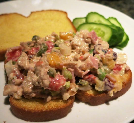 Leftovers! — Chicken Salad with Tomatoes, Scallions and Fruit
