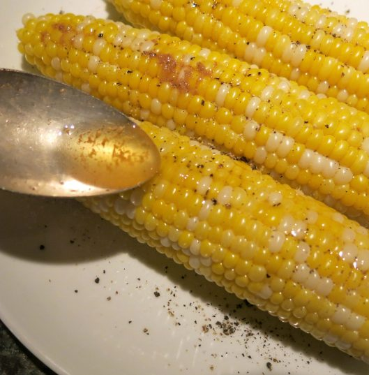 Sweet Corn with Spiced Garlic Butter with Horseradish