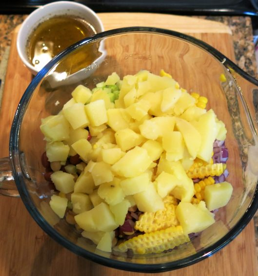 Three Bean Salad with Potatoes and Corn