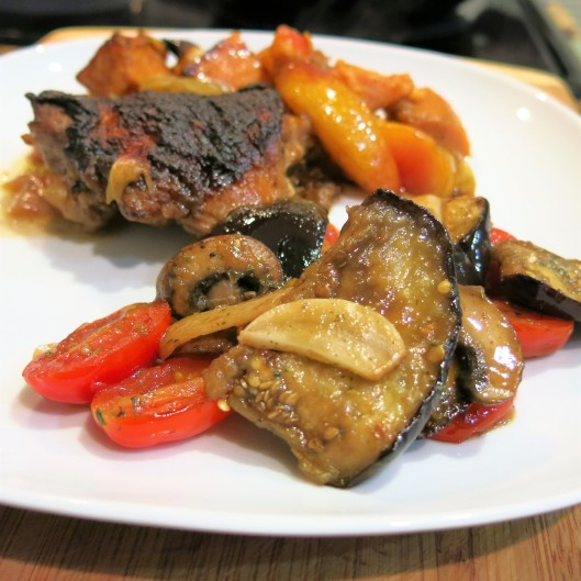 Lebanese-Style Eggplant with Tomatoes, Garlic and Mint