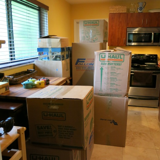 The Kitchen on Moving Day!