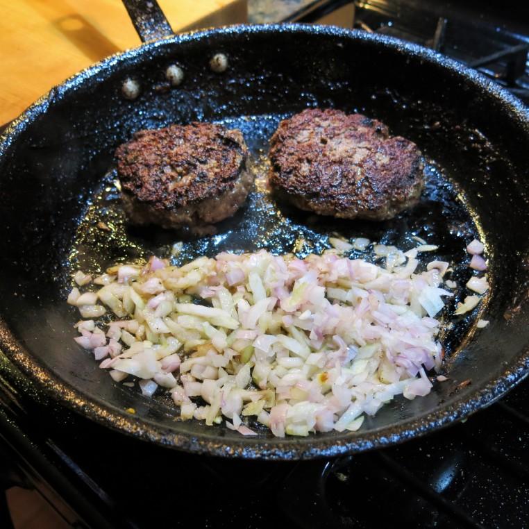 Salisbury Steak with Mushroom, Onion and Caper Sauce