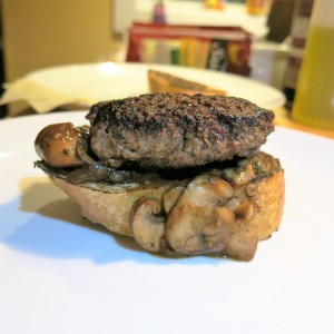 Salisbury Steak with Mushroom, Onion and Caper Sauce
