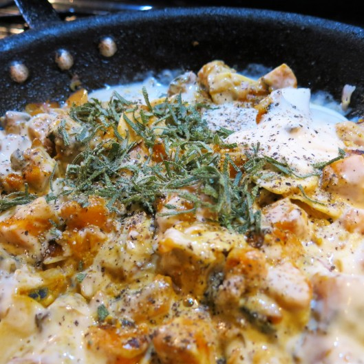 Butternut-Bacon Cream Sauce with Sage