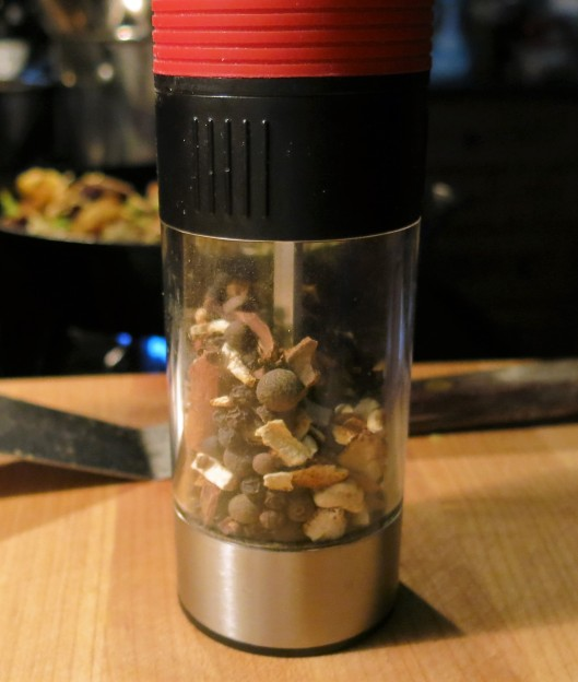 Mulling Spice in a Pepper Grinder