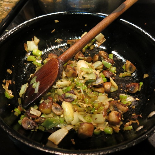 Sautéd Vegetables for Apple-Cranberry Cornbread Dressing