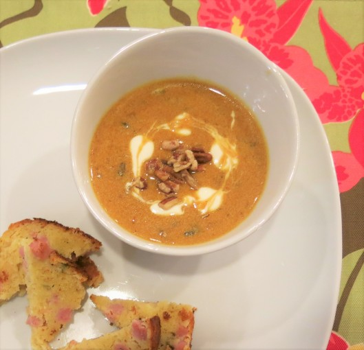 Cream of Mushroom-Pumpkin Soup with Sherry